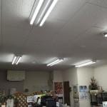 教室の電気がLEDに変わりました。